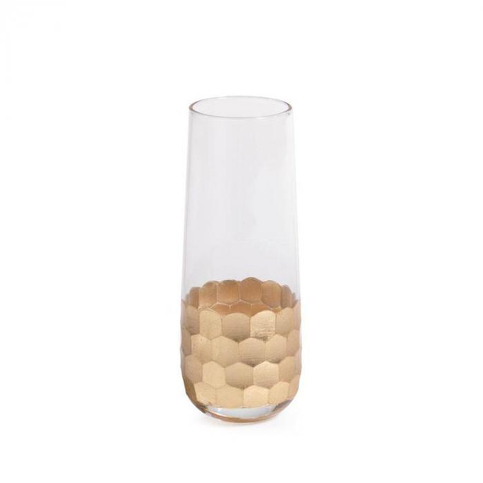 Stemless glass with gold leaf design | Interior Design, Furniture & Home Decor Online Shop Colors of Design Gruop Miami FL