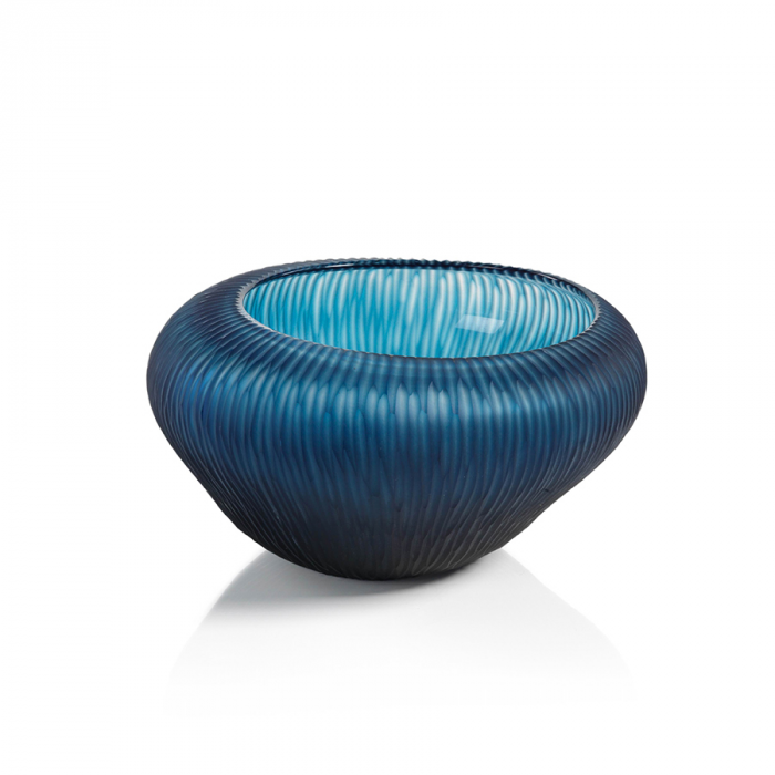 Blue Freeform Glass Bowl | Interior Design, Furniture & Home Decor Online Store. Unique Accents Decor. Gift Cards Available | Colors of Design, Interior Design Services