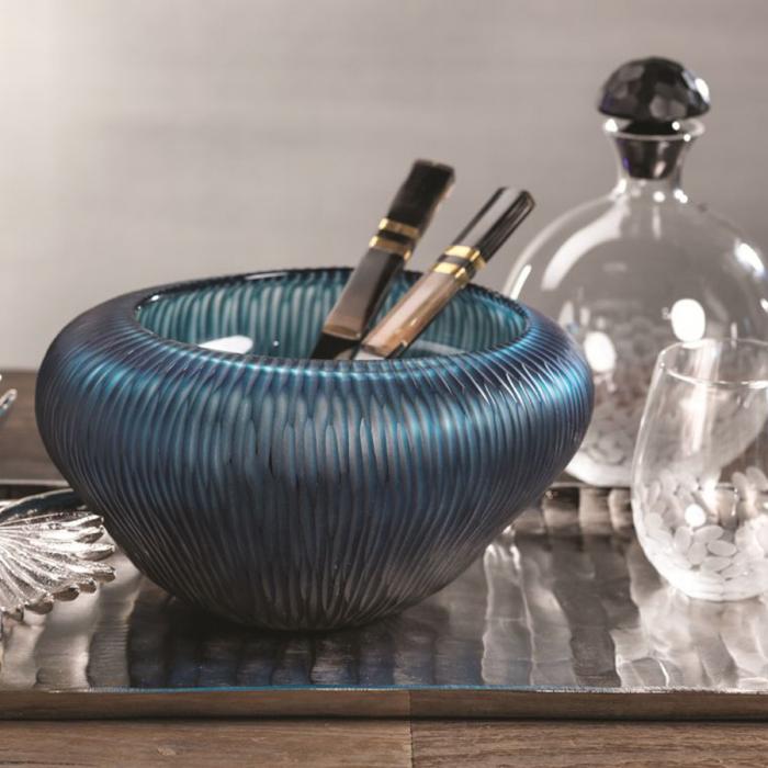 Blue Freeform Glass Bowl | Interior Design, Furniture & Home Decor Online Store. Unique Accents Decor. Gift Cards Available | Colors of Design, Interior Design Services