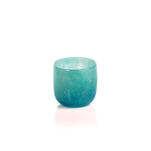 Frosted Glass Pillar Turquoise   Interior Design, Furniture & Home Decor Online Store. Unique Accents Decor. Gift Cards Available   Colors of Design, Interior Design Services