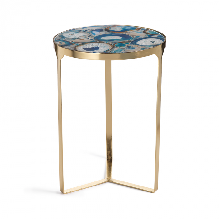 Blue Agate End Table | Interior Design, Furniture & Home Decor Online Store. Unique Accents Decor. Gift Cards Available | Colors of Design, Interior Design Services