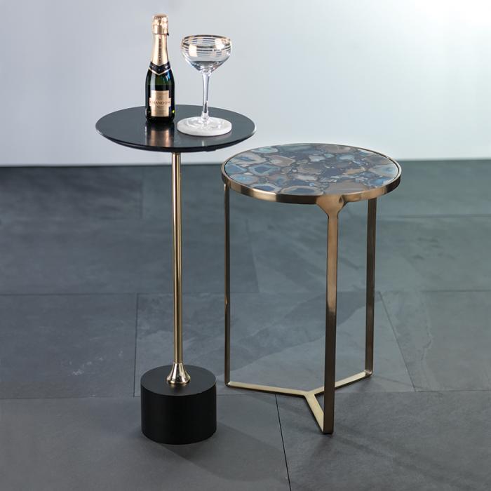 Blue Agate End Table   Interior Design, Furniture & Home Decor Online Store. Unique Accents Decor. Gift Cards Available   Colors of Design, Interior Design Services