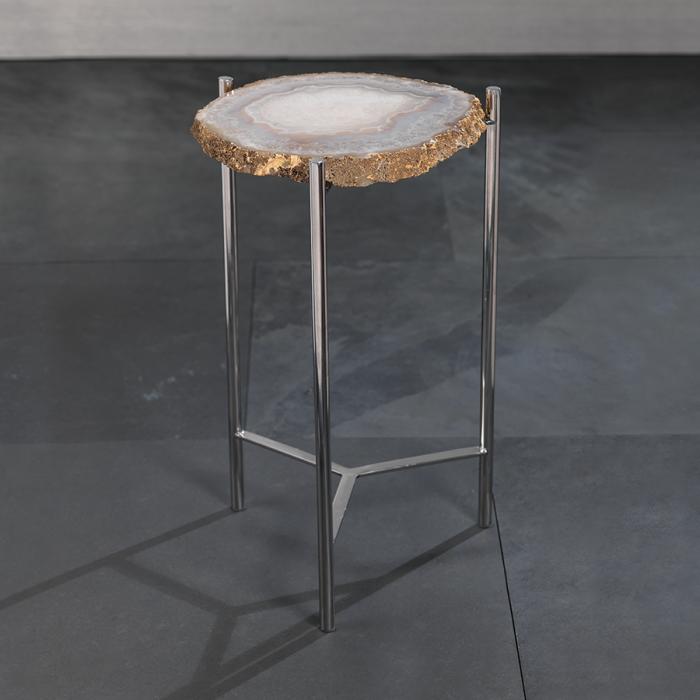 Agate Accent Table | Interior Design, Furniture & Home Decor Online Store. Unique Accents Decor. Gift Cards Available | Colors of Design, Interior Design Services