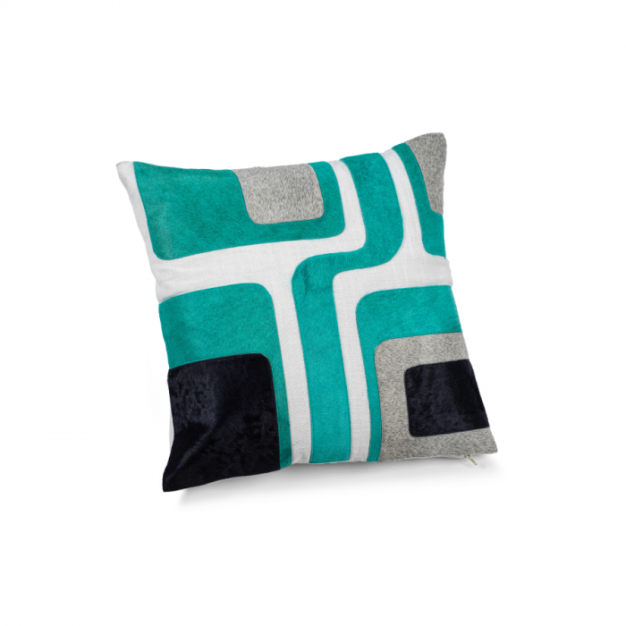 Turquoise/Silver Throw Pillow | Interior Design, Furniture & Home Decor Online Store. Unique Accents Decor. Gift Cards Available | Colors of Design, Interior Design Services