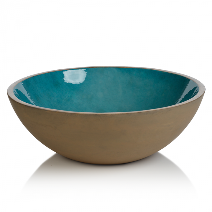 Turquoise Salad Bowl | Interior Design, Furniture & Home Decor Online Store. Unique Accents Decor. Gift Cards Available | Colors of Design, Interior Design Services