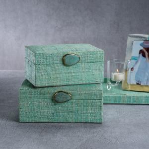 Raffia Turquoise Box | Interior Design, Furniture & Home Decor Online Store. Unique Accents Decor. Gift Cards Available | Colors of Design, Interior Design Services